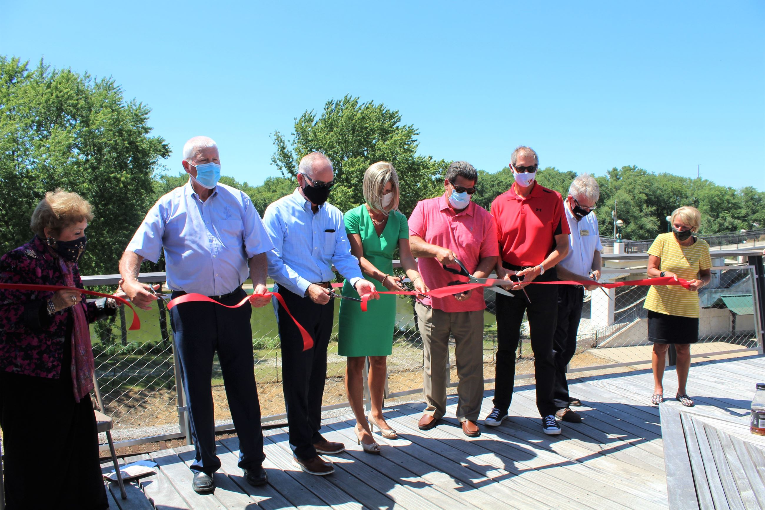 Riverside Promenade Ribbon Cutting