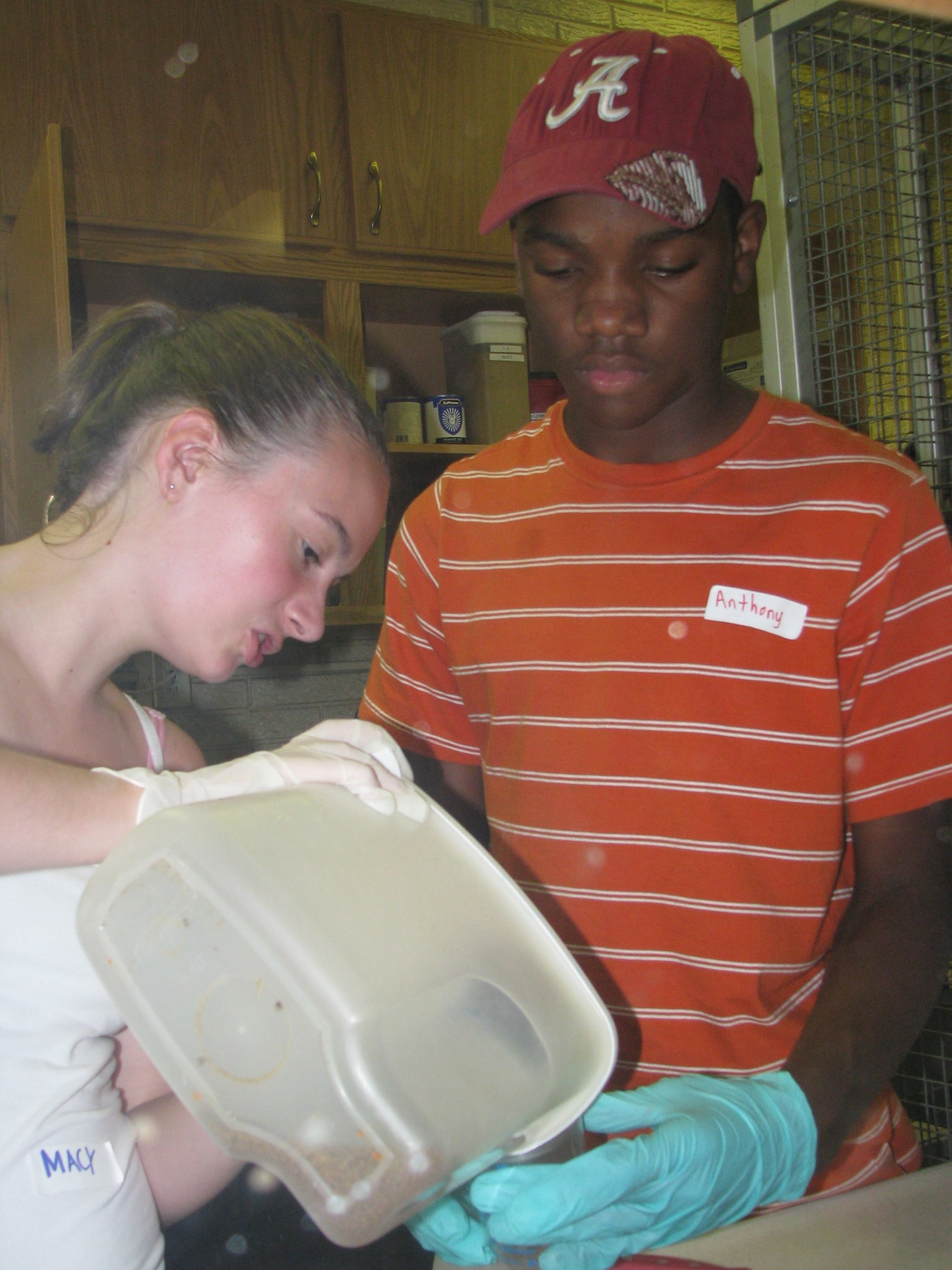 Macy and Anthony prepping trays.JPG