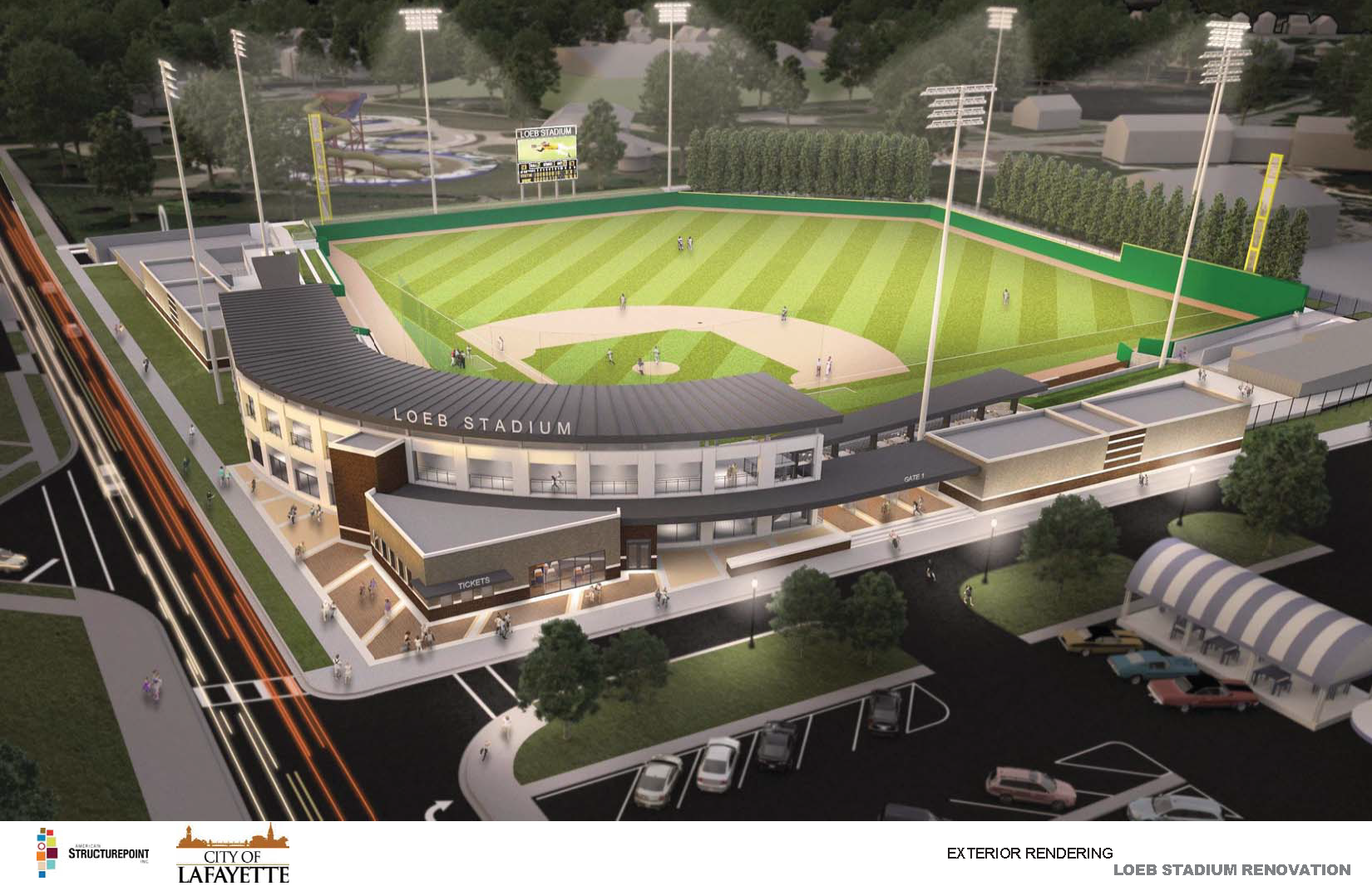 Loeb Stadium Field Rendering